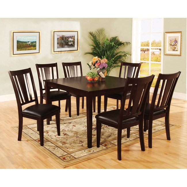 of america bahena 7 piece dark cherry counter height dining set