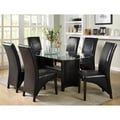 Furniture of America Francis Beveled Glass Top 7-piece Dining Set