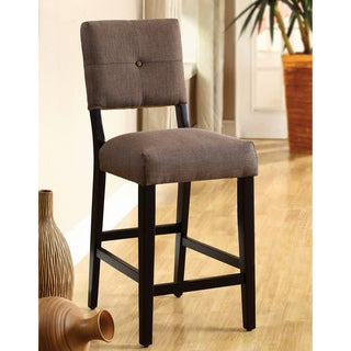 Furniture of America Catherine Espresso Counter-height Stools (Set of 2