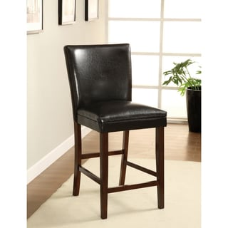 furniture of america porta leatherette counter height dining chairs