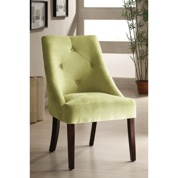 Furniture of America Apple Green Aura Leisure Microfiber Dining Chair