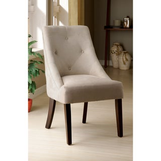 Ivory Aura Leisure Microfiber Dining Chair