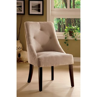 Furniture of America Mocha Aura Leisure Microfiber Dining Chair