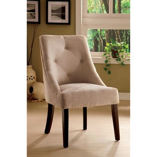 Mocha Aura Leisure Microfiber Dining Chair