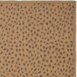 Safavieh Indoor/ Outdoor Natural/ Leopard Print Rug (9' x 12')