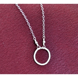 AEB Design Silver Small Ring Necklace
