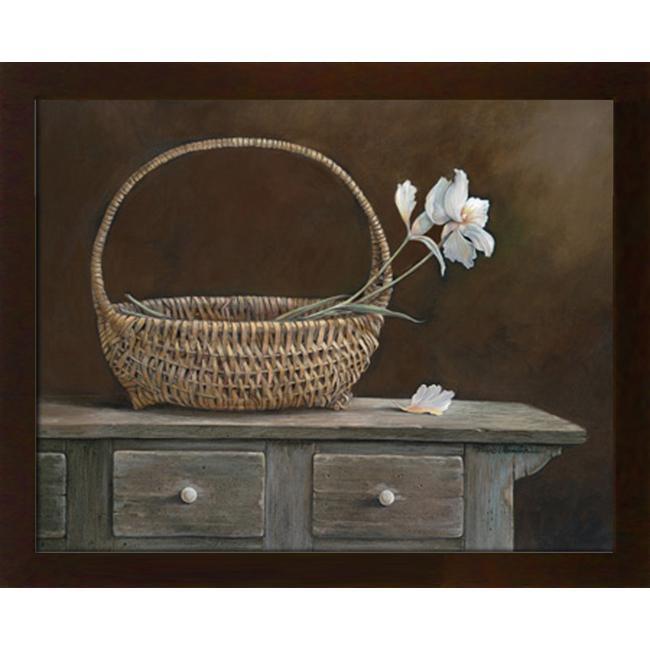 Ruane Manning 'Wicker & Orchids' Embellished Framed Art Print