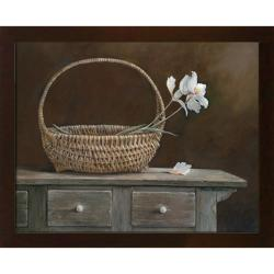 Ruane Manning 'Wicker & Orchids' Embellished Framed Art Print