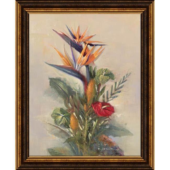 Paul Mathenia 'Tropical Paradise' Embellished Framed Art Print