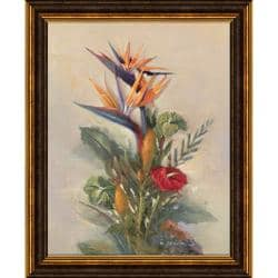 Paul Mathenia 'Tropical Paradise' Embellished Framed Art Print