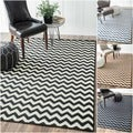 Alexa Chevron Vibe Zebra Rug (5&#39;3 x 7&#39;6)