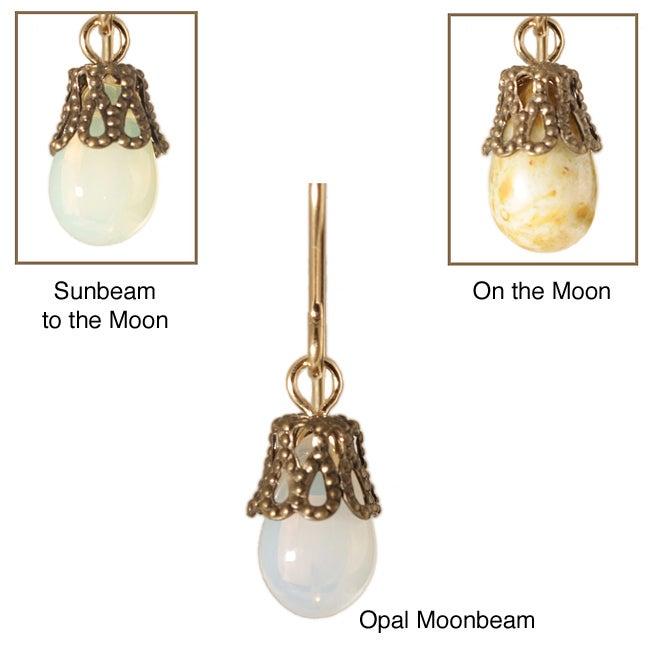 'Miakoda' 14k Gold Fill Glass Earrings