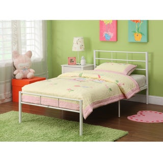 White Metal Twin Bed