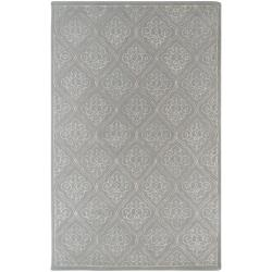 Candice Olson Hand-tufted Divine Grey Geometric Wool Rug (5' x 8')