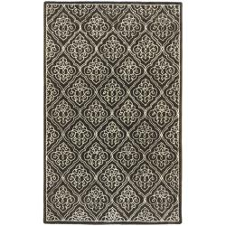 Candice Olson Hand-tufted Divine Chocolate Geometric Wool Rug (9' x 13')