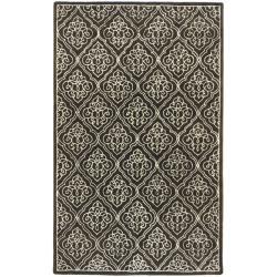 Candice Olson Hand-tufted Divine Chocolate Geometric Wool Rug (9' x 13')