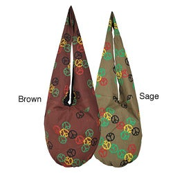 Cotton Rasta Peace Shoulder Bag (Nepal)