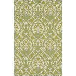 Candice Olson Hand-tufted Divine Chartreuse Botanical Wool Rug (9' x 13')