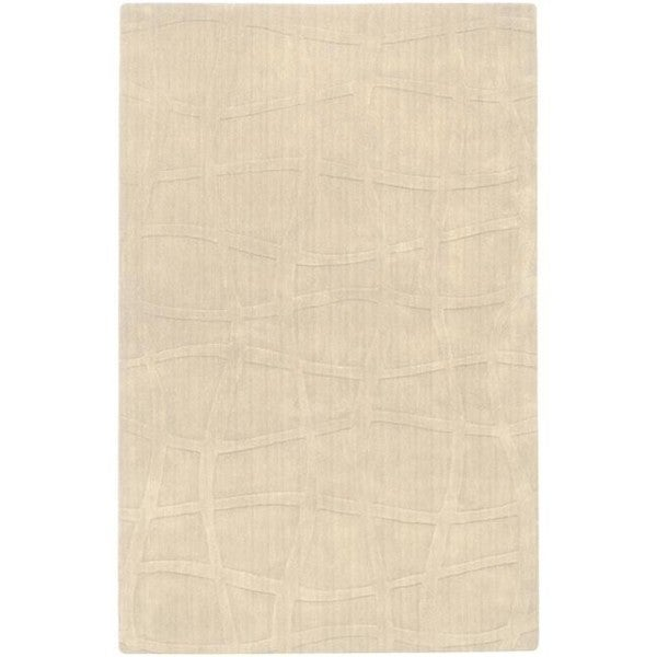 Candice Olson Loomed Ivory Abstract Plush Wool Rug (9' x 13')