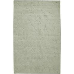 Candice Olson Loomed Silver Sage Damask Pattern Wool Rug (3'3 x 5'3)