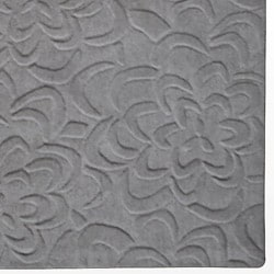 Candice Olson Loomed Grey Floral Plush Wool Rug (3'3 x 5'3)