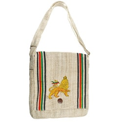 Hemp Lion of Judha Messenger Bag (Nepal)