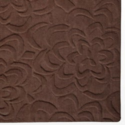 Candice Olson Loomed Chocolate Floral Plush Wool Rug (8' x 11')