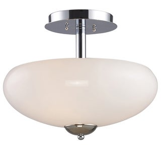 Polished Chrome 3-light Semi Flush Light Fixture