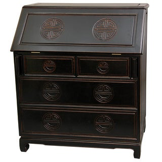 Rosewood Antique Black Classic Writing Desk (China)