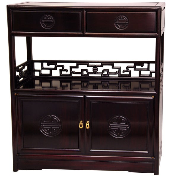 Handmade Rosewood Long Life Display Cabinet (China)