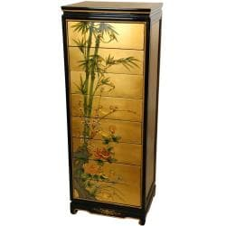Wooden Gold Leaf 8-drawer Cabinet (China)