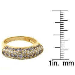 Beverly Hills Charm High-Polish 14K Yellow Gold Tanzanite and 1/2ct TDW Diamond Ring