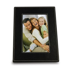 Bellagio Italia Lux Leather Black Photo Frame