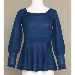 Alpaca Wool 'Always Azure' Sweater (Peru)