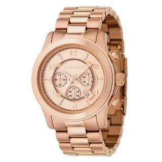 Michael Kors MK8096 'Runway' Rose Gold-Tone Watch