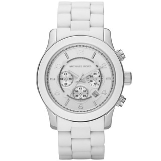 Michael Kors MK8108 White Oversized Dial Watch