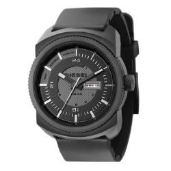 Diesel Men's Black Stainless Steel Case Black Poly Strap Watch