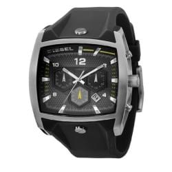 Diesel Men's Stainless Steel Case Black Silicon Strap Chronograph Watch