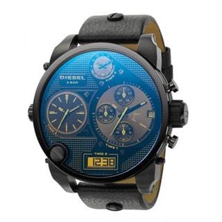 Diesel Men's DZ7127 Three Time Zone Leather Strap Watch