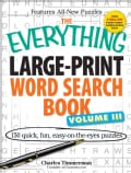 The Everything Word Search Book: 150 Quick, Fun, Easy-on-the-Eyes Puzzles (Paperback)