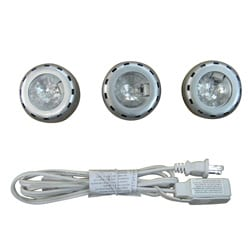 Undercabinet Brushed Nickel 3-light Kit