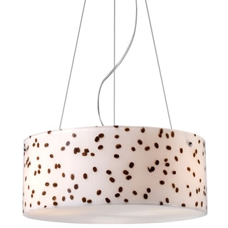 Coffee Bean and Polished Chrome 3-light Pendant