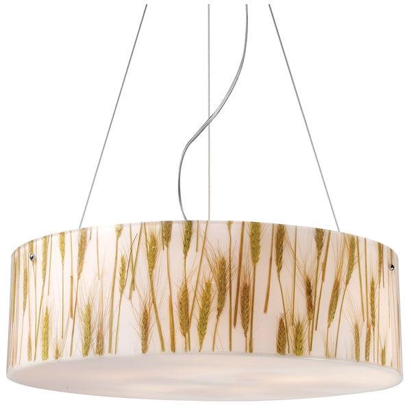 Wheat Polished Chrome 5-light Pendant