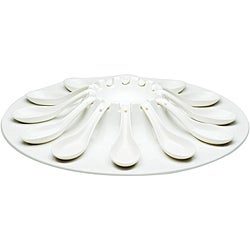 Red Vanilla Fare Porcelain 13-piece Appetizer Set