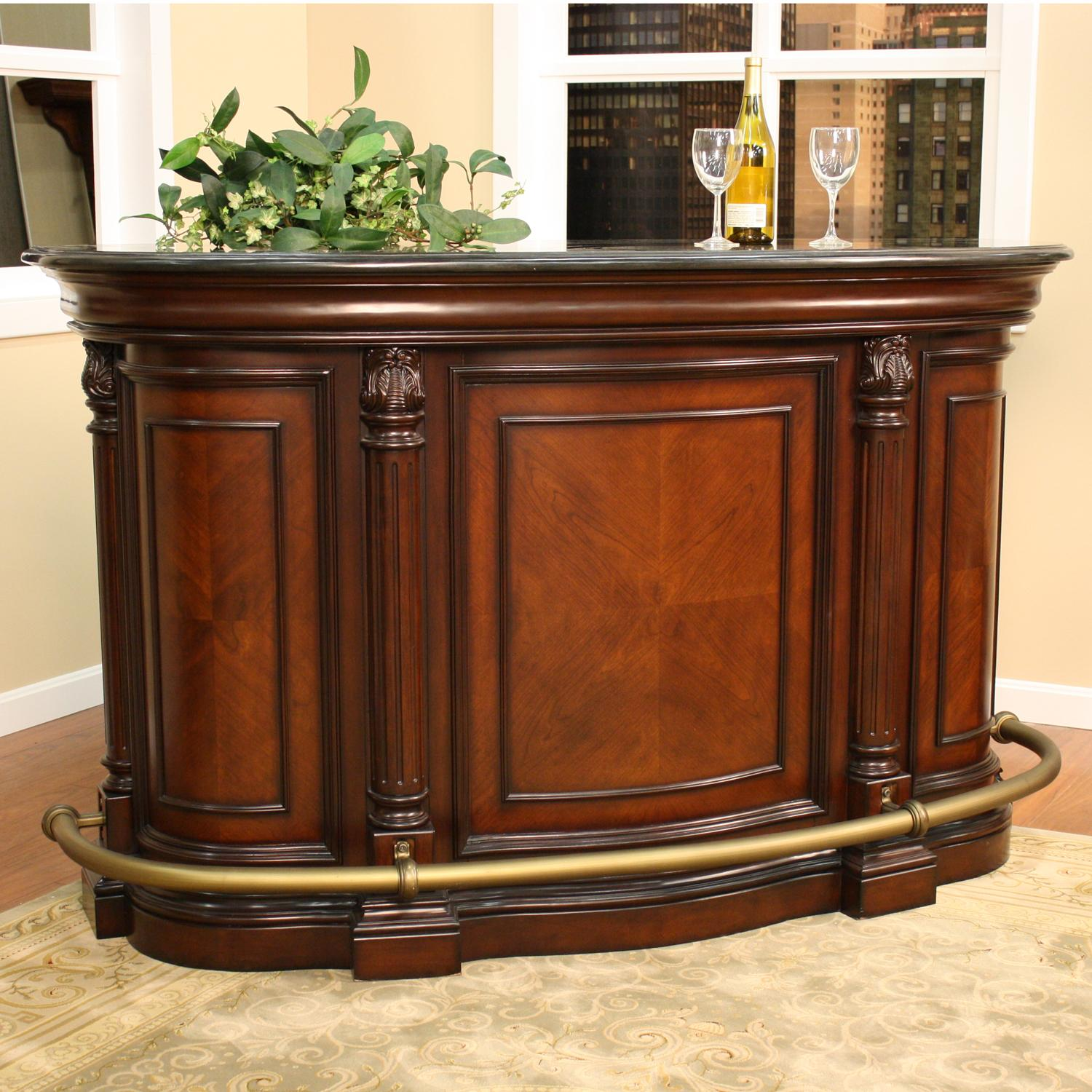 Haley 70 inch wood home bar overstock shopping big for Bar at home furniture