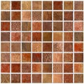 SomerTile 7.75x7.75-inch Montage Valise 1 Decor Ceramic Wall Tiles (Pack of 10)
