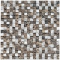 SomerTile 12x12-inch Griselda Chiseled 0.5-inch Sand Charcoal Natural Stone Mosaic Tiles (Pack of 10)