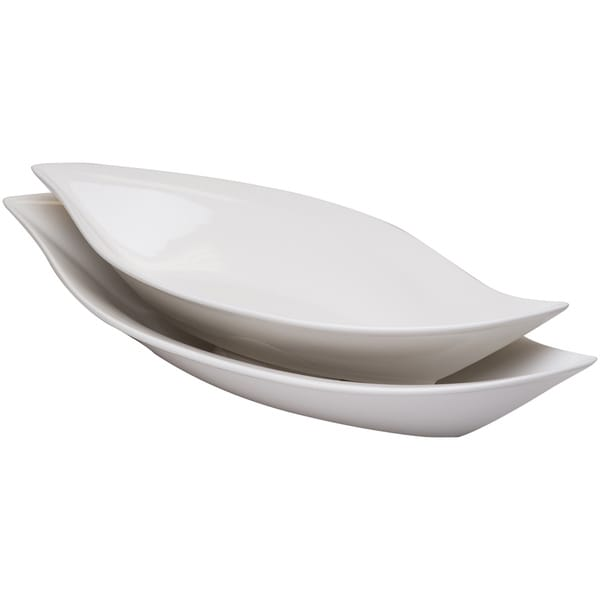 Red Vanilla Fare Wave Serving Bowls (Set of 2)
