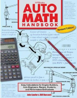 Auto Math Handbook: Easy Calculations for Engine Builders, Auto Engineers, Racers, Students, and Performance Enth... (Paperback)