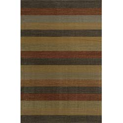 Power-loomed Illusion Stripe Multi Rug (3'11 x 5'7)